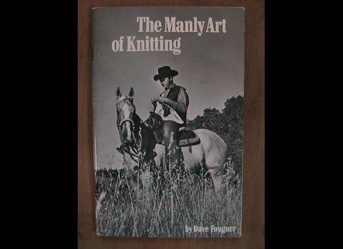 """There's just something so manly about knitting atop a horse. (Via <a href=""""http://justmako.tumblr.com/post/16681936693/someon"""