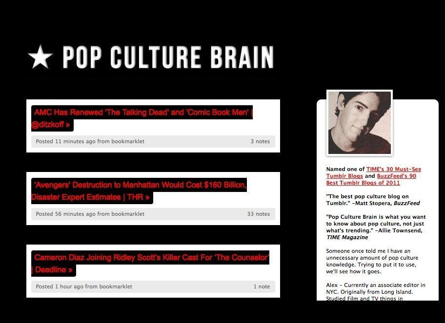 """Want to be the first of your friends to know about pop culture news? <a href=""""http://popculturebrain.com/"""" target=""""_hplink"""">T"""