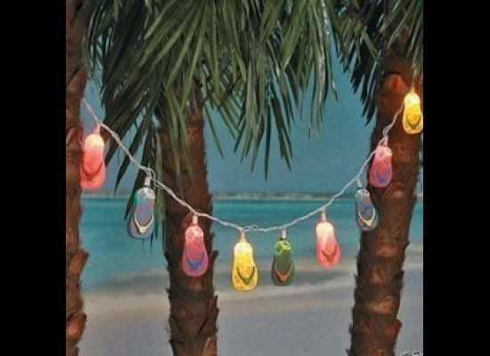 The perfect lights for any beach luau.