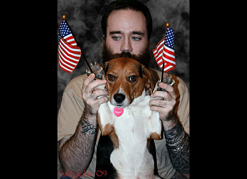 This dog is twice as patriotic as you.