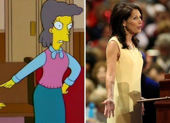 """Michele Bachmann may want to use Helen Lovejoy's shrieking catchphrase, """"Won't somebody think of the <i>children!</i>"""" as her"""