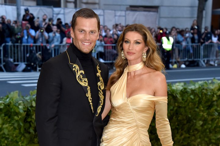 Tom Brady and Gisele Bündchen attend the Met Gala on May 7, 2018, in New York City.