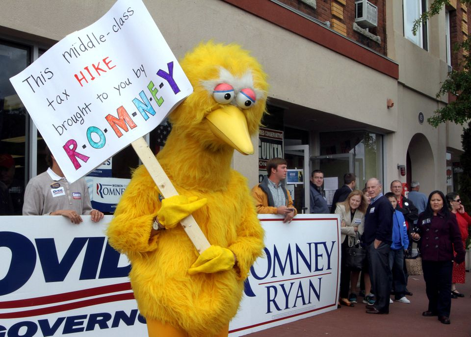 It might be hard to track down an eight-foot yellow bird costume before Oct. 31, but it would be so worth it.