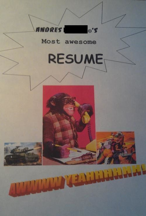 21 Funny Resumes Cover Letters PHOTOS