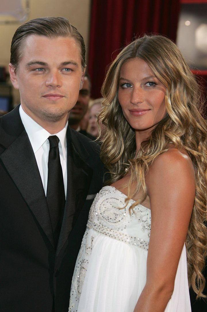 Leonardo DiCaprio and Gisele Bündchen at the 77th Annual Academy Awards in Hollywood on Feb. 27, 2005.