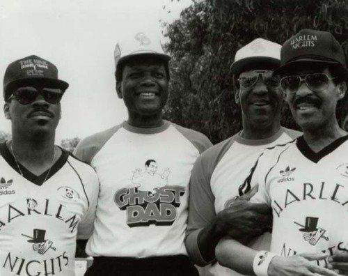 "Via <a href=""http://awesomepeoplehangingouttogether.tumblr.com/post/36071158114/eddie-murphy-sidney-poitier-bill-cosby-and"">A"