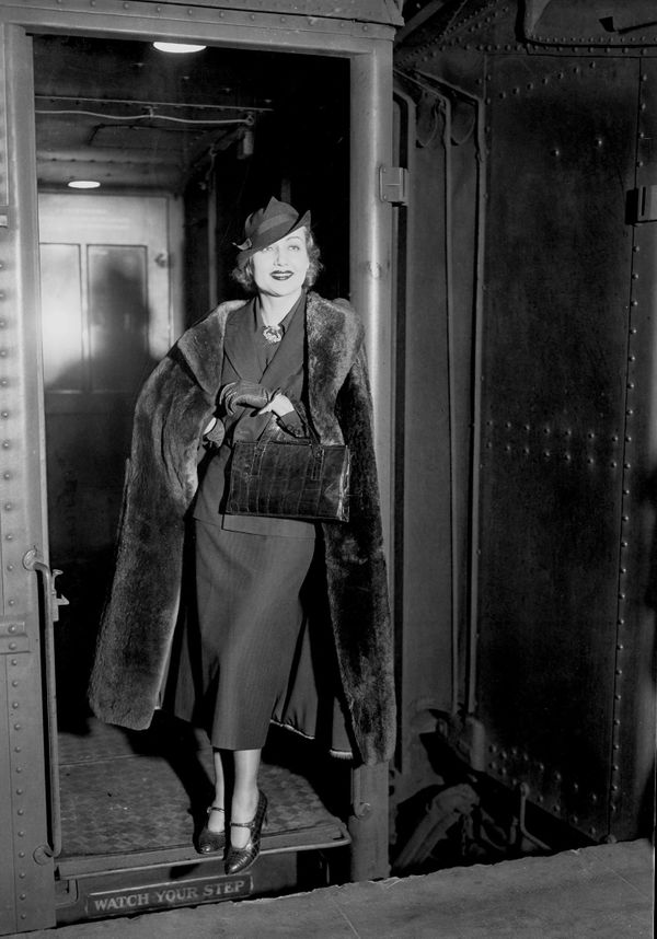 Lombard at Penn Station in New York, sometime in 1935.