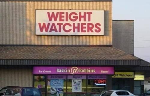 Weight Watchers should probably just stay out of strip malls all together.