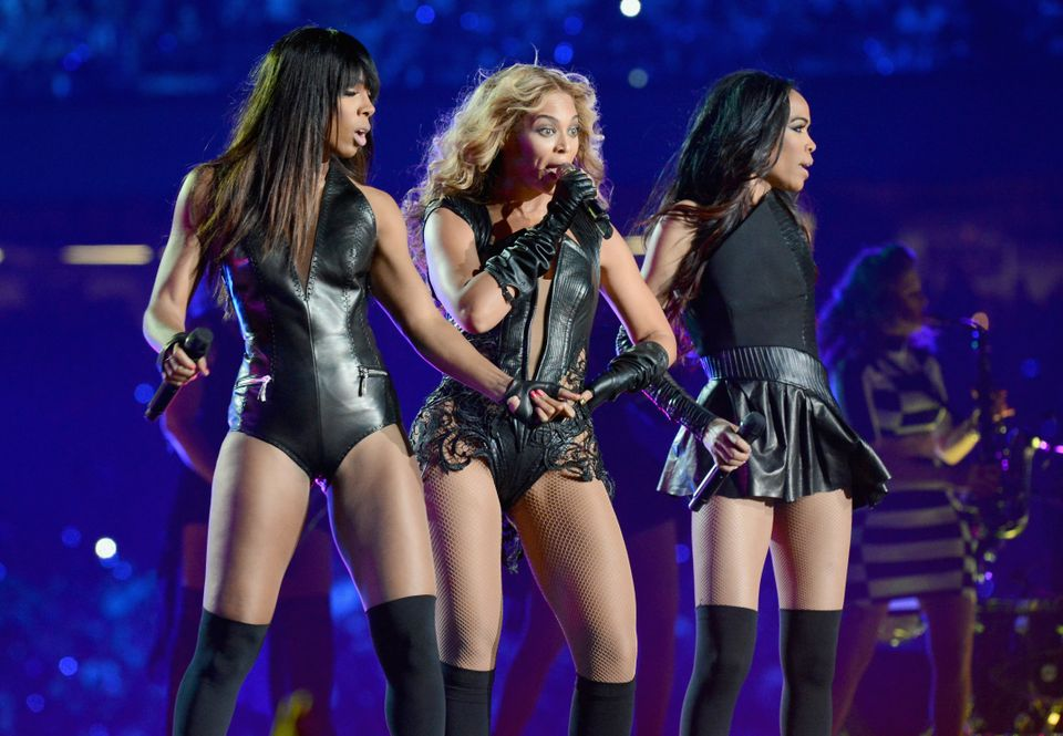 NEW ORLEANS, LA - FEBRUARY 03: Singers Kelly Rowland, Beyonce and Michelle Williams of Destinys Child perform during the Peps