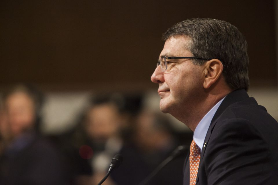 WASHINGTON, USA - FEBRUARY 4: Dr. Ashton Carter listens to Senators during the Senate Armed Forces Committee hearing for his