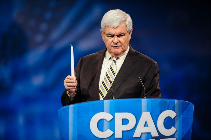 NATIONAL HARBOR, MD - MARCH 16: Newt Gingrich, former presidential candidate and Speaker of the U.S. House of Representatives