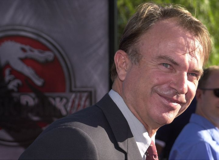 391892 14: Actor Sam Neill attends the premiere of the Universal Pictures film Jurassic Park III July 16, 2001 at Universal S