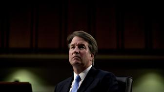 Brett Kavanaugh, U.S. Supreme Court associate justice nominee for U.S. President Donald Trump, listens during a Senate Judiciary Committee confirmation hearing in Washington, D.C., U.S., on Thursday, Sept. 6, 2018. Kavanaugh yesterday steered clear of trouble in a marathon day before a Senate panel, refusing to say whether he would overturn the constitutional right to abortion or disqualify himself from any case directly involving Trump. Photographer: Andrew Harrer/Bloomberg via Getty Images