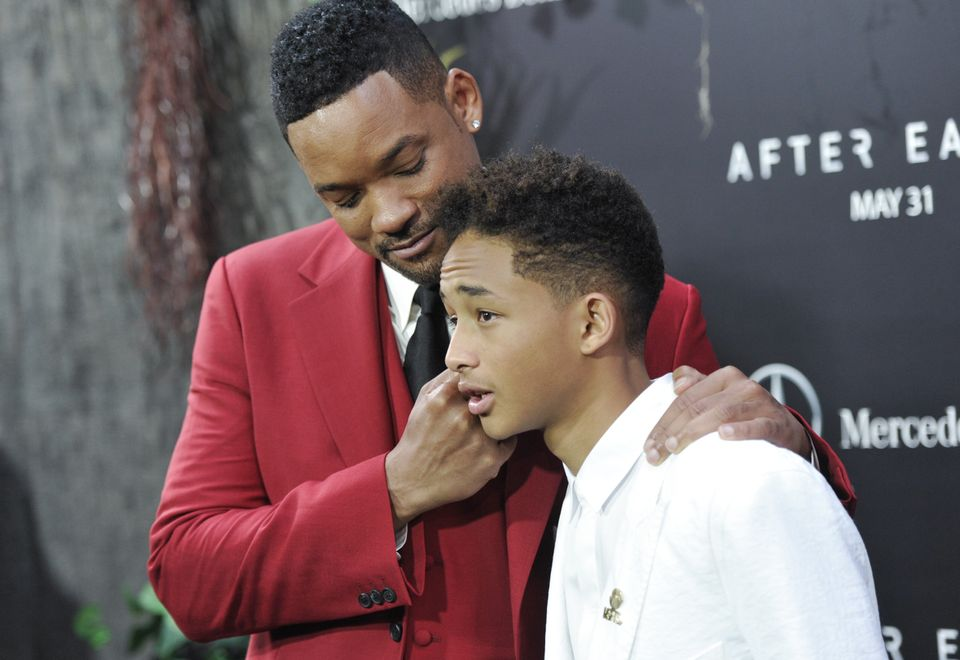 "Actors Will Smith, left, and Jaden Smith attend the ""After Earth"" premiere at the Ziegfeld Theatre on Wednesday, May 29, 2013"