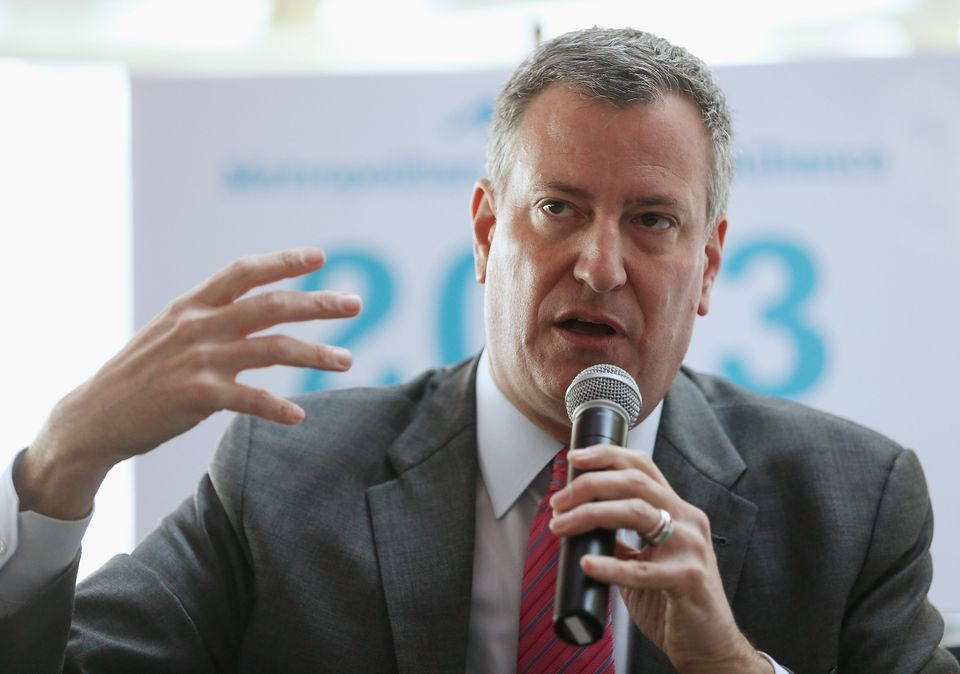 "Currently the city's Public Advocate, <a href=""http://www.billdeblasio.com/"" target=""_blank"">Bill de Blasio announced his bid"
