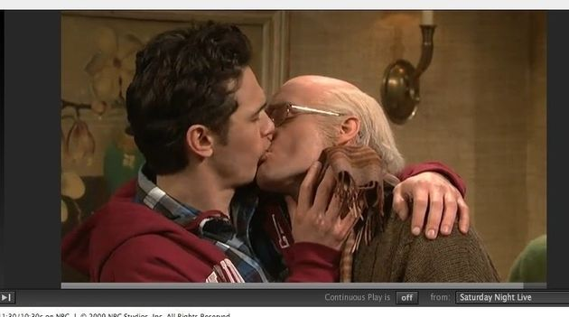The Kissing Family: James Franco MAKES OUT With Will Forte