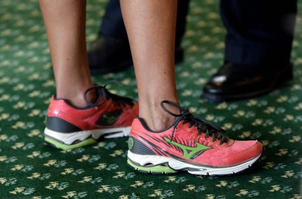 Wendy Davis inspired women everywhere with her 11-hour filibuster this year. Now you can pay tribute by wearing pink running