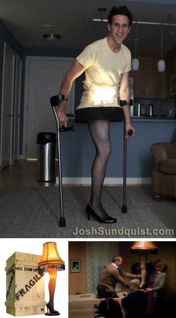 Hands down, the most clever costume for people with one leg.