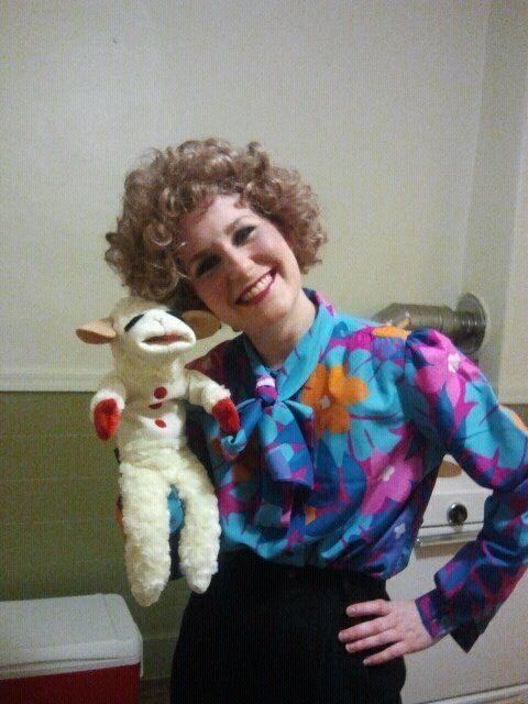 Finding a Lamp Chop puppet is easy, but she really pulls off being Shari Lewis.