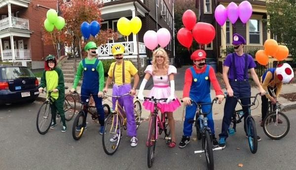 The classic video game makes an awesome group costume.