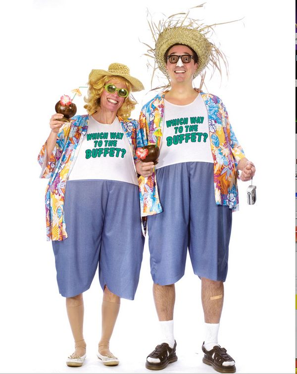 You think this outfit convinces people this isn't exactly who you are when you go on vacation but it doesn't.