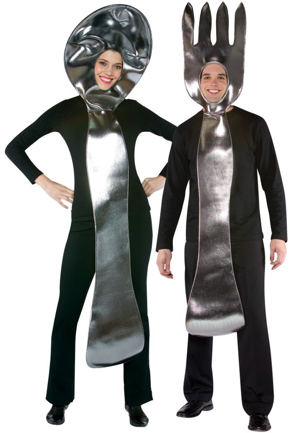 Sure, you coordinated a costume, but the fork and spoon are never used together. Your relationship is over and everyone knows