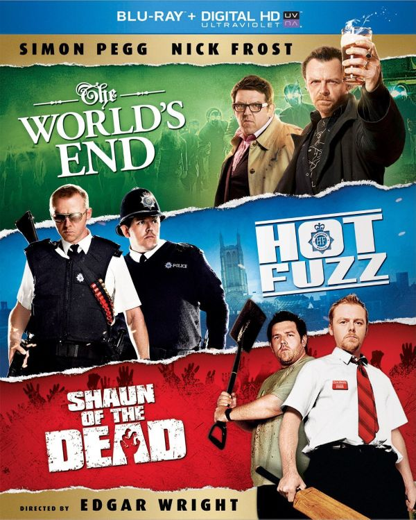 """Simon Pegg and Nick Frost fans will love this boxed set which includes """"Shaun Of The Dead,"""" """"Hot Fuzz,"""" and this year's """"The"""