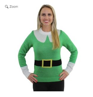 """Channel your inner Will Ferrell with this """"Elf"""" replica sweater. <a href=""""http://www.tipsyelves.com/the-elf-sweater"""" target="""""""