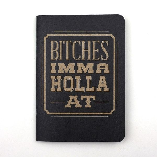"""Your to-do list has never been more LOL-worthy. <a href=""""http://fab.com/product/bitches-notebook-set-of-four-334350/?ref=brow"""