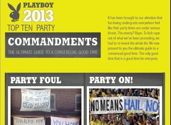 "Plenty of people were excited that Playboy took a bold stance against sexual assault in September when the ""Playboy Party Gui"