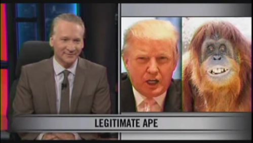 "We still think the Donald may be <a href=""https://www.huffpost.com/entry/donald-trump-sues-bill-maher-over-monkey-sex_n_26160"