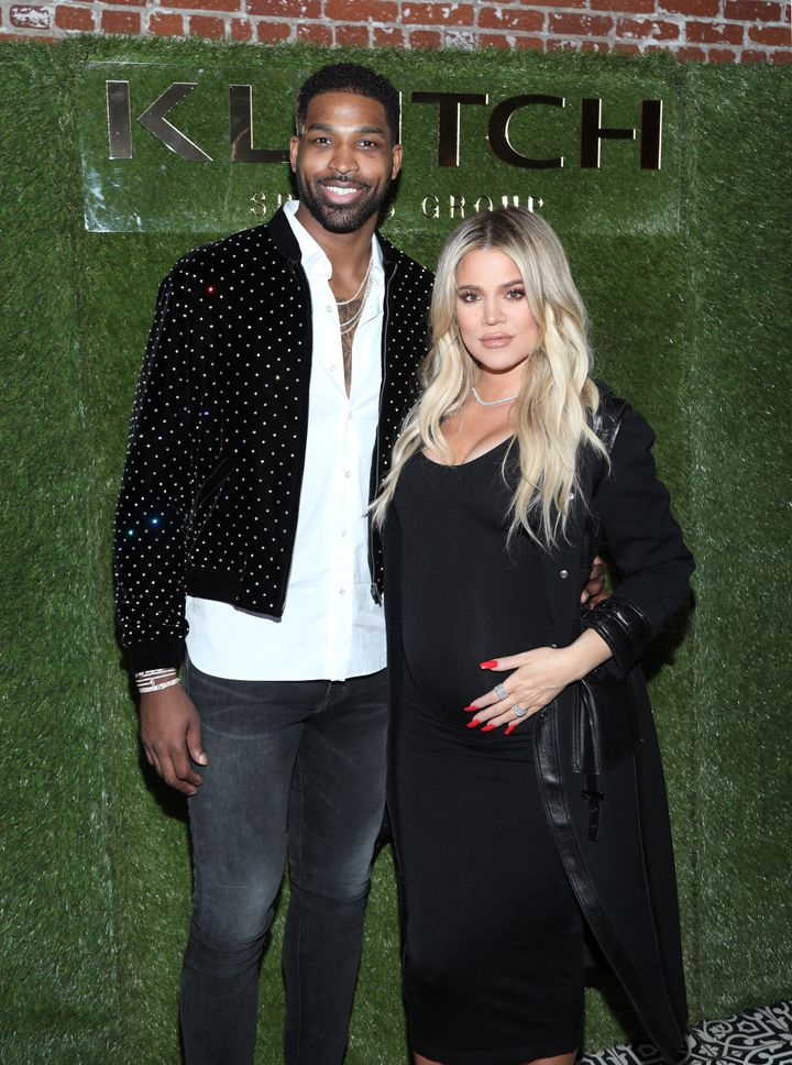 Tristan Thompson and Khloe Kardashian together on Feb. 17 in Los Angeles.