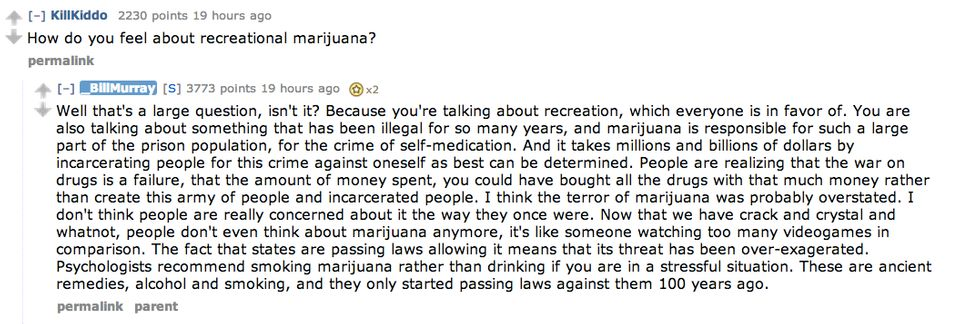 """""""People are realizing that the war on drugs is a failure."""""""