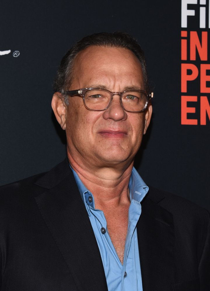 "Tom Hanks attends the screening of ""Simple Wedding"" during the 2018 LA Film Festival."