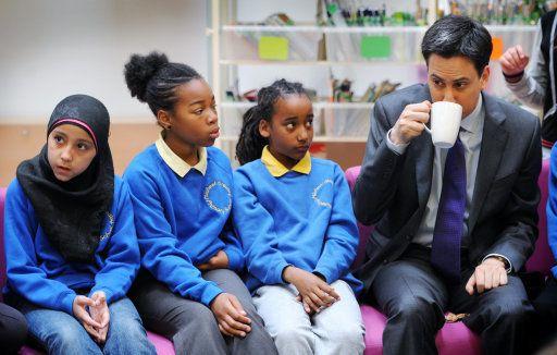 Ed Miliband impressing these girls