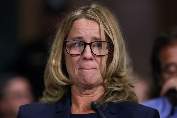 Christine Blasey Ford testifies before the Senate Judiciary Committee.