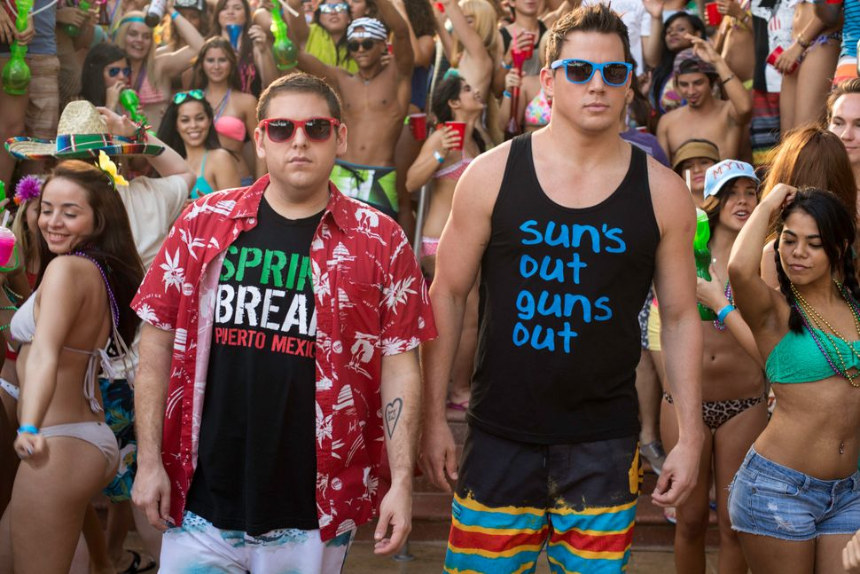 "Assuming there are laughs left over from ""Neighbors,"" expect to find them in ""22 Jump Street,"" this summer's sequel to ""21 Ju"