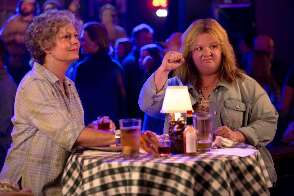 Melissa McCarthy and Susan Sarandon star in this road-trip comedy that McCarthy co-wrote with her husband, Ben Falcone. (Falc