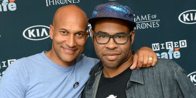 SAN DIEGO, CA - JULY 20:  Comedians Jordan Peele and Keegan Michael Key attend day 3 of the WIRED Cafe at Comic-Con on July 2