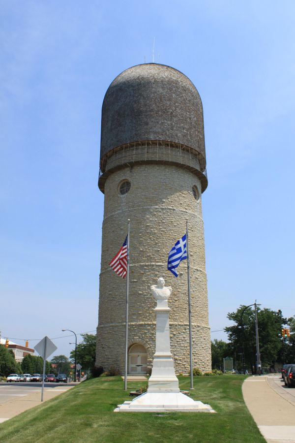 "The Ypsilanti Water Tower was, ahem, <a href=""https://www.emich.edu/walkingtour/watertower.htm"" target=""_blank"">erected in 18"