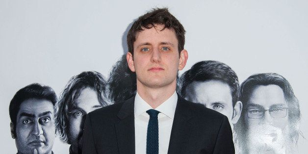 HOLLYWOOD, CA - APRIL 03:  Actor Zach Woods arrives at the Premiere Of HBO's 'Silicon Valley' at Paramount Studios on April 3