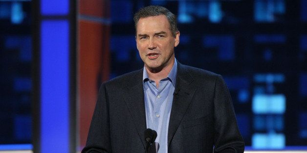 BURBANK, CA - AUGUST 03:  Comedian Norm Macdonald on stage at the 'Comedy Central Roast Of Bob Saget' on the Warner Brothers