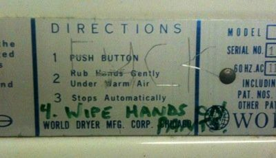 If hand dryer instructions were honest...