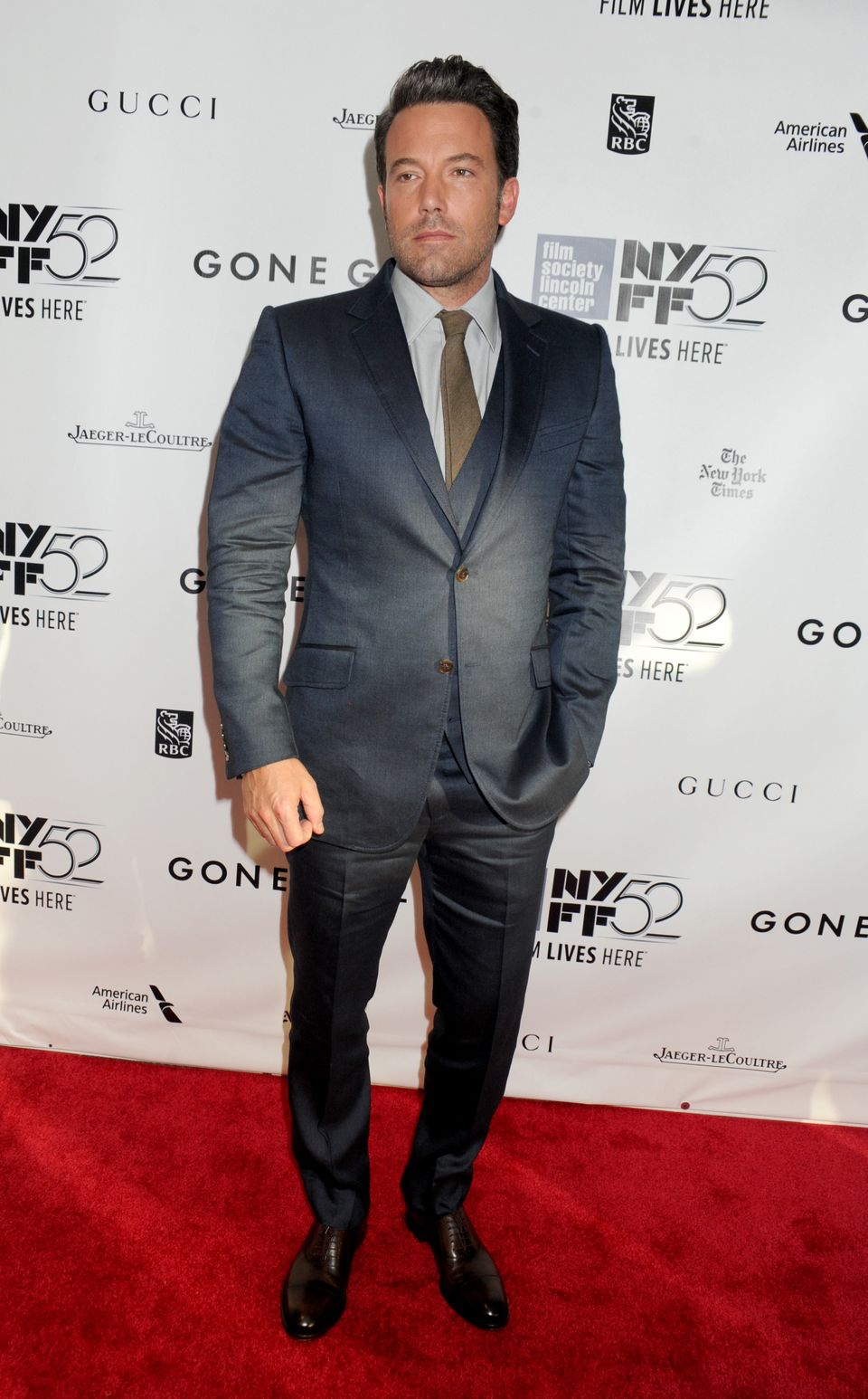 "Ben Affleck attends the Opening Night Gala Presentation and World Premiere of ""Gone Girl"" during the 52nd New York Film Festi"
