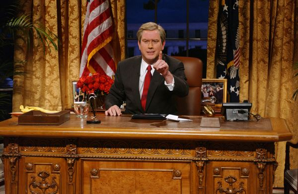 Pictured: Darrell Hammond as President George W. Bush during 'Weapon Discoveries' skit on Nov. 1, 2008  (Photo by Dana Edelso