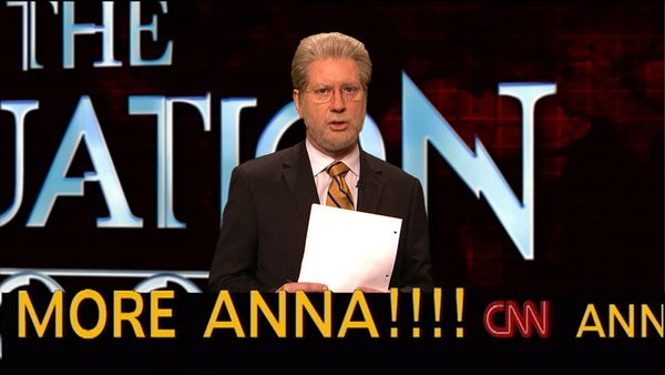 Pictured: Darrell Hammond as Wolf Blitzer during 'The Situation Room' skit on Feb. 24, 2007  (Photo by Dana Edelson/NBC/NBCU
