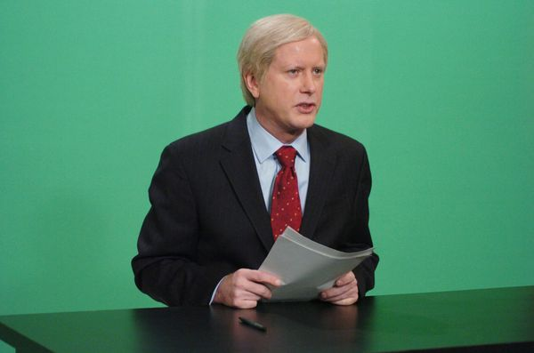 Pictured: Darrell Hammond as Chris Matthews during 'Hardball' skit on Oct. 28, 2006  (Photo by Dana Edelson/NBC/NBCU Photo Ba