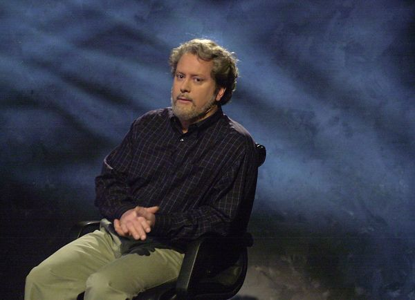 Pictured: Darrell Hammond as George Lucas during the 'HBO First Look' skit on Jan. 12, 2002  (Photo by Mary Ellen Matthews/NB