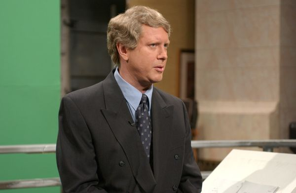 Pictured: Darrell Hammond as Ted Koppel during 'Nightline' skit on March 6, 2004  (Photo by Dana Edelson/NBC/NBCU Photo Bank