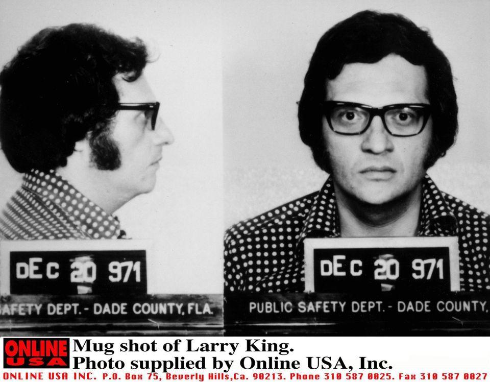 Mug shot of Larry King.